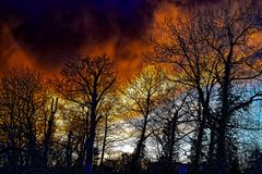 Merkwürdiger Himmel