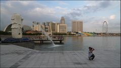 Merlion, Skyline und Singapore Flyer