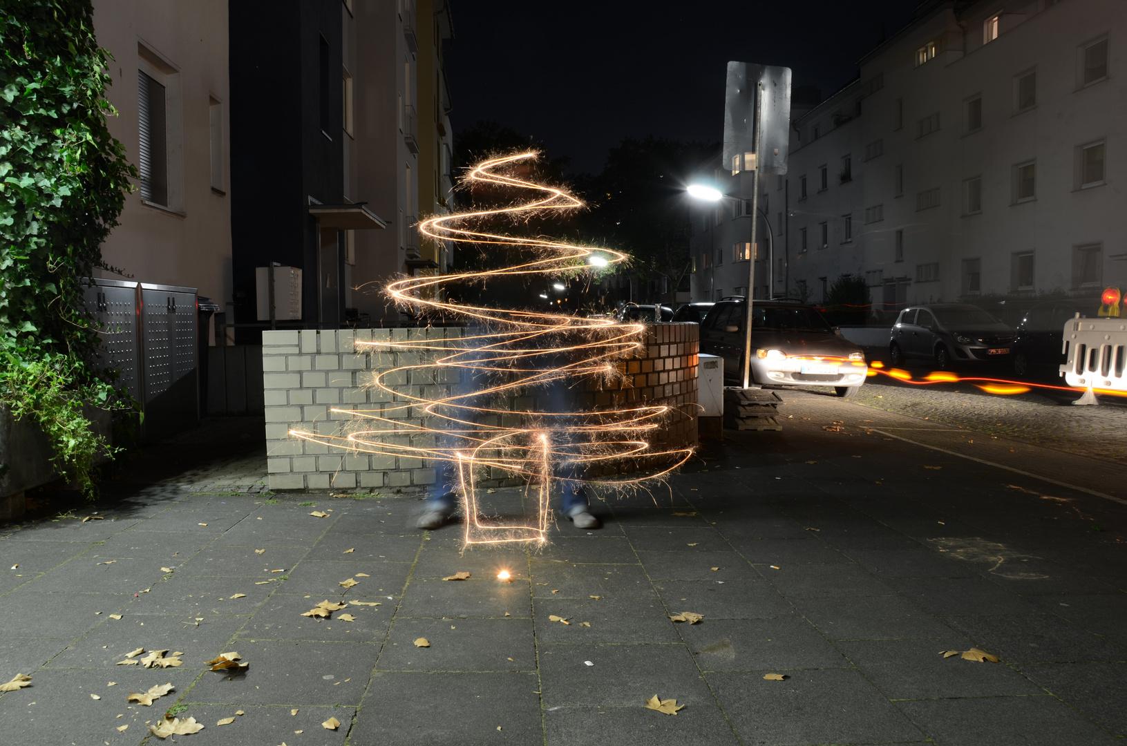Merry Christbaum - Lightpainting