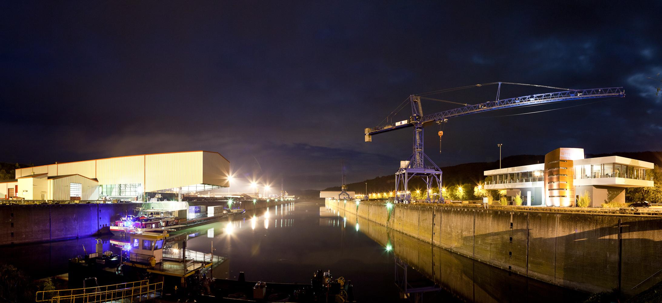 Mertert-Harbour by night