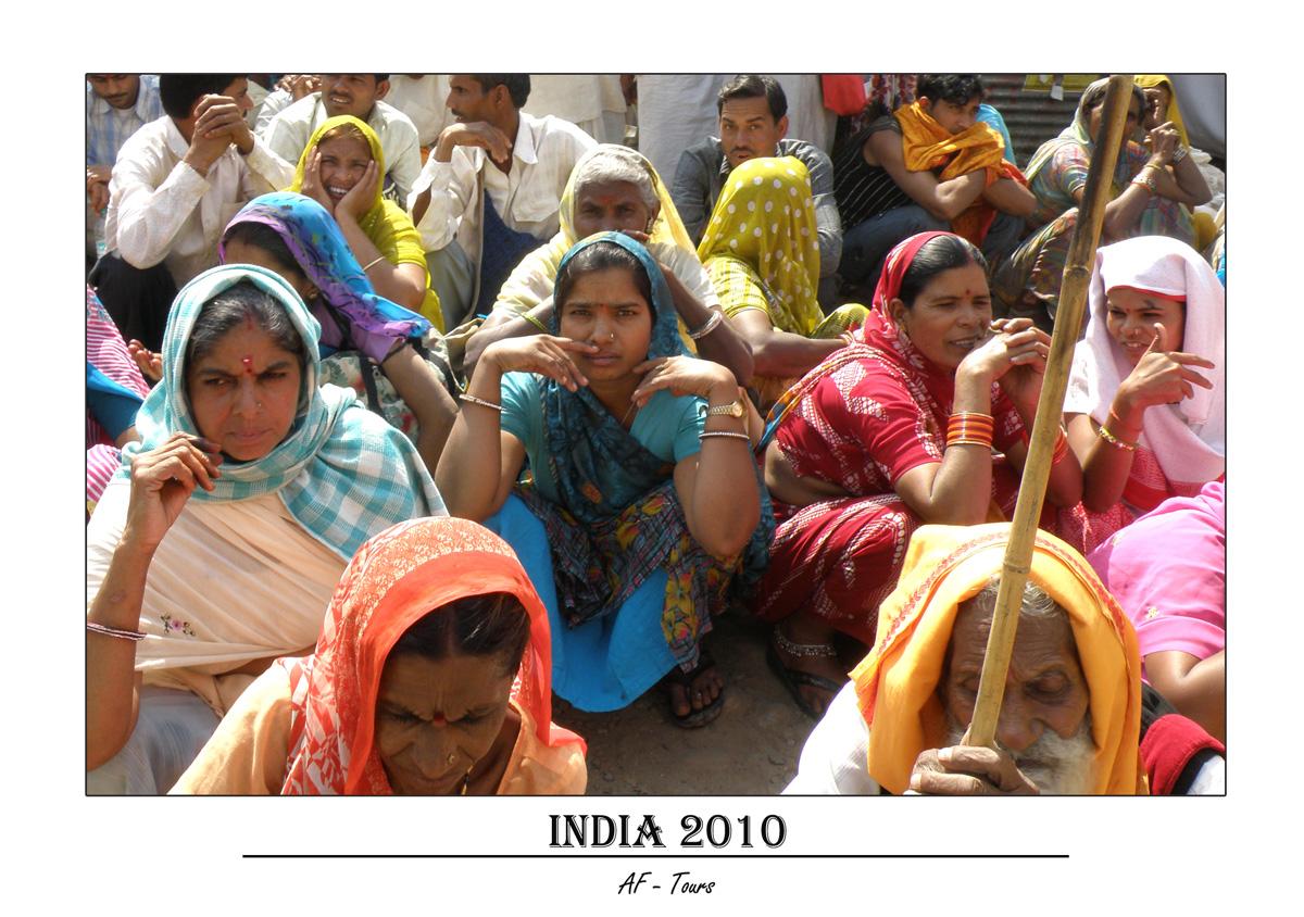 Meschen bei der Kumbh Mela 2010