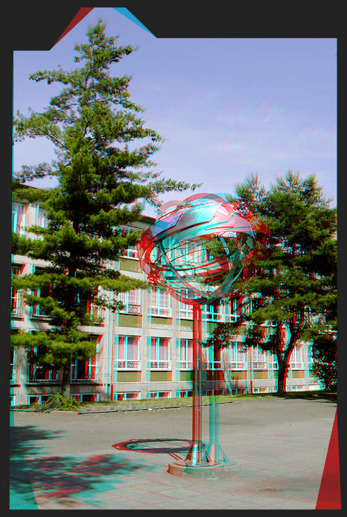 Metallurgical Globe 3D [Anaglyph-View]