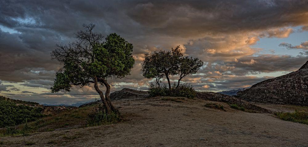 Meteora am Abend