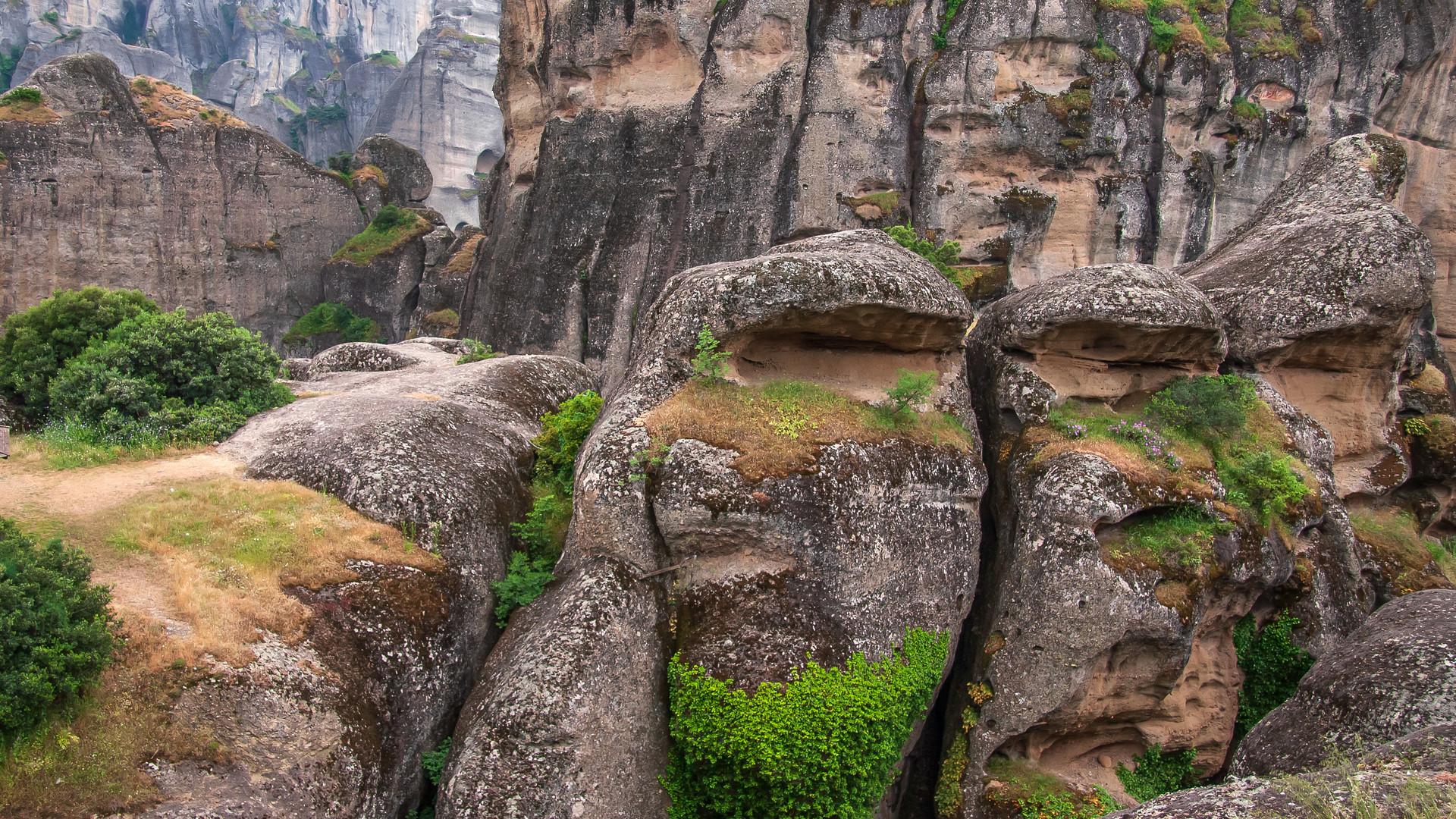 Meteora - mal ohne Kloster