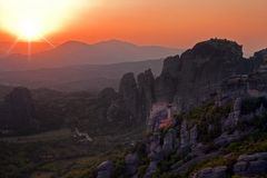 Meteora Sonnenuntergang