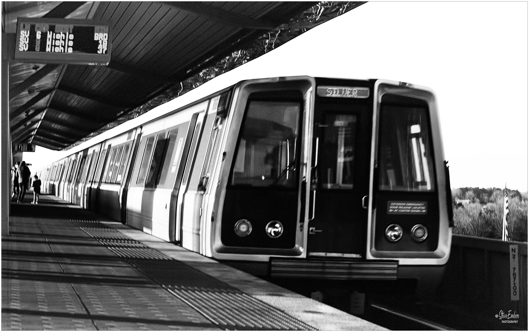 Metro Silver Line Train Departs Spring Hill Station