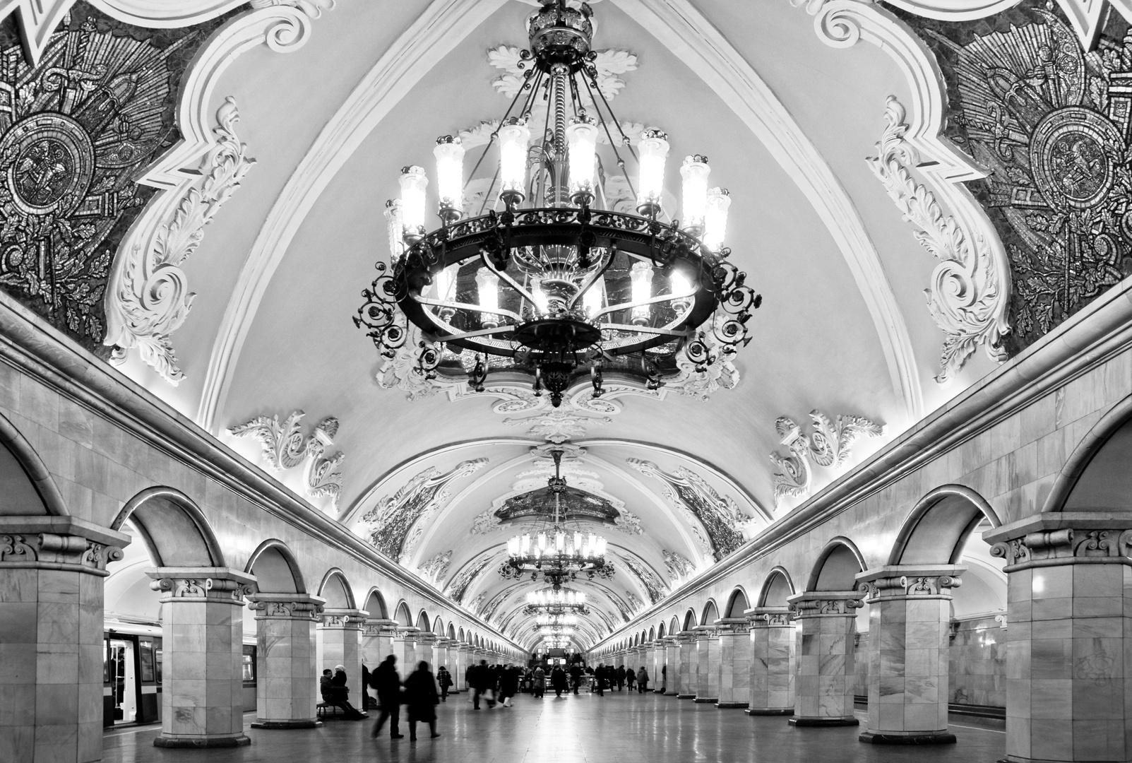 Metro Station Komsomolskaja - Moskau