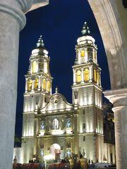 Mexico Abend- Kathedrale von Campeche