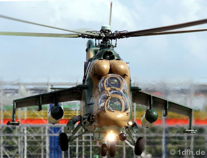 MI-24 Präzise Landung