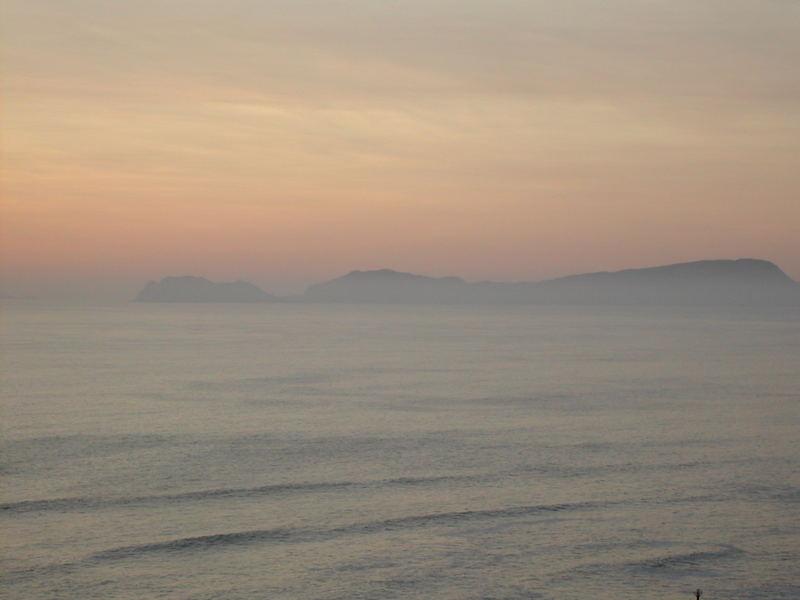 Mi propio Claude Monet en  el Océano Pacífico.