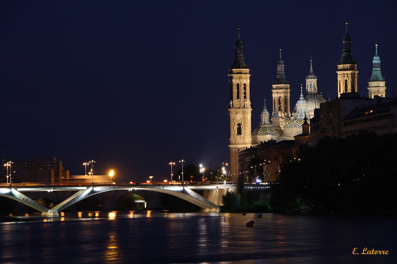 Mi Zaragoza de noche