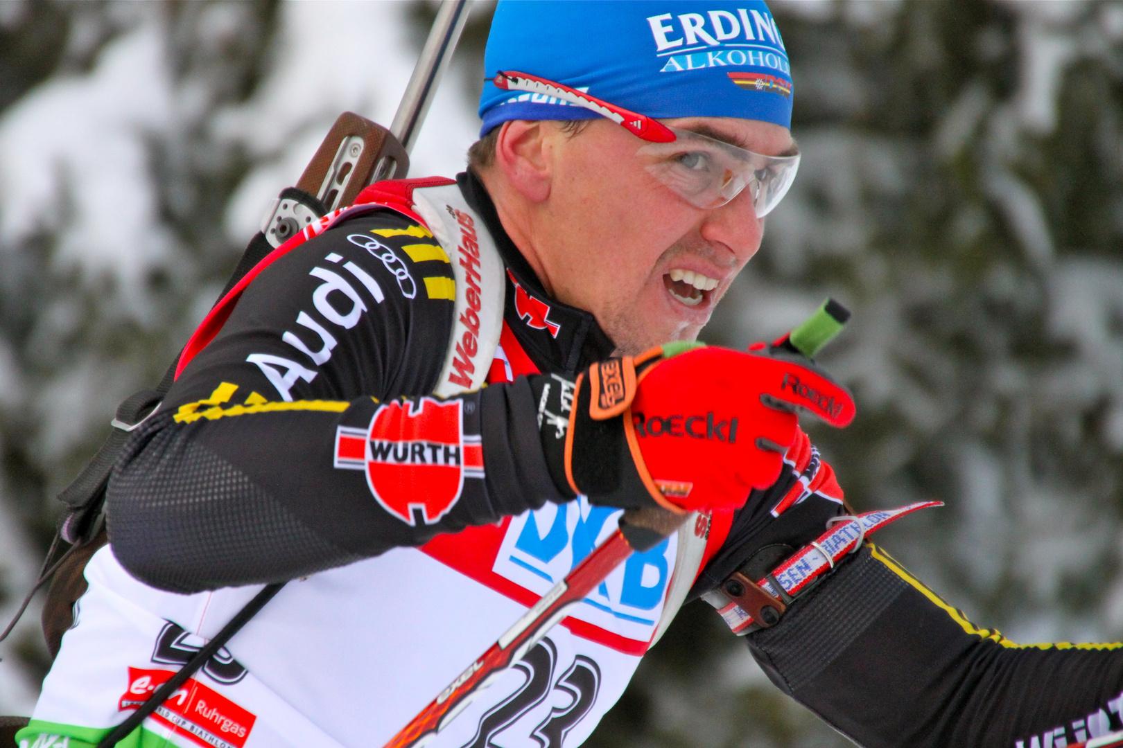 Michael Greis beim Biathlon...