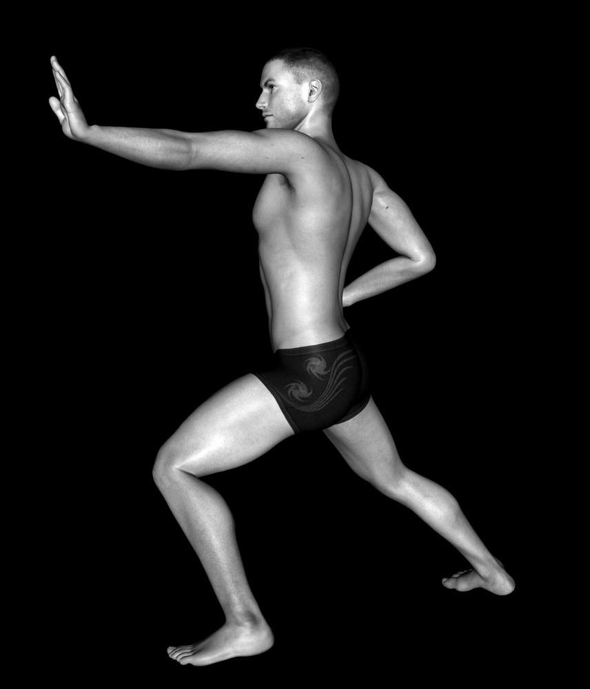 Michael - Karate en noir & blanc