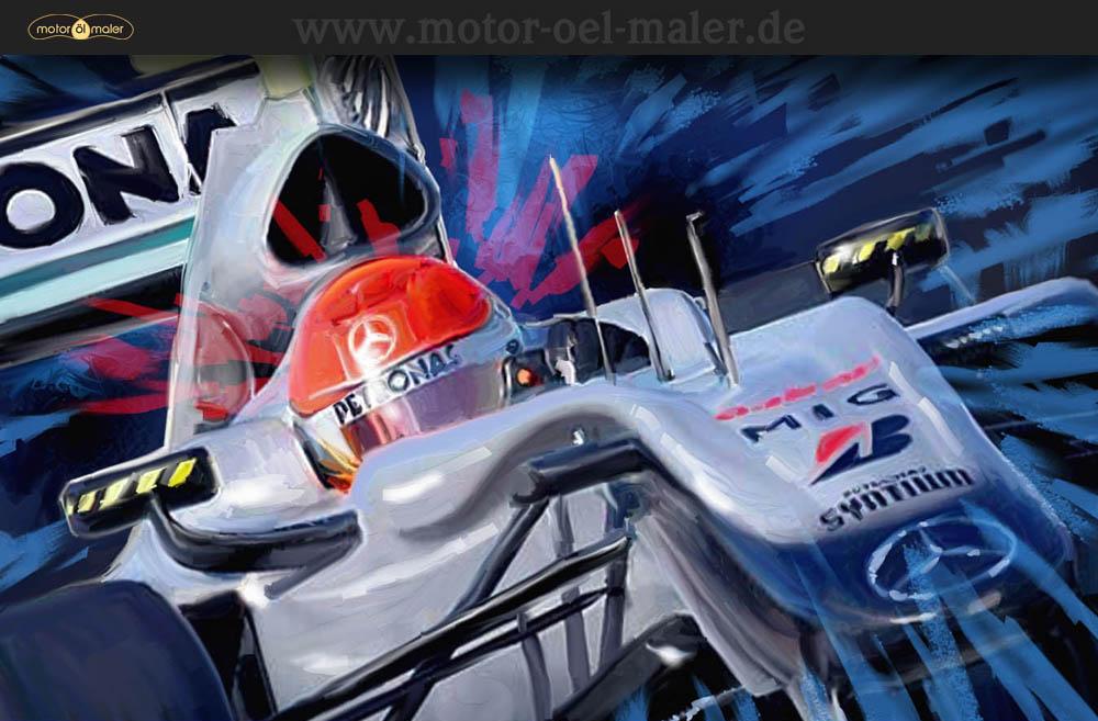 Michael Schumacher im Mercedes GP W01