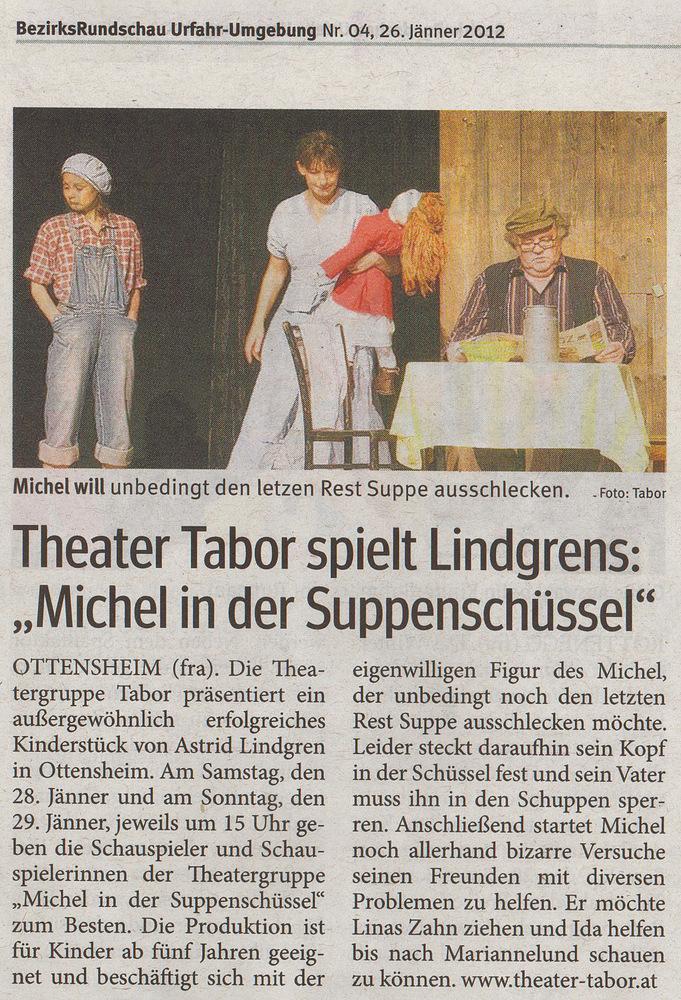Michel in der Suppenschüssel, Bezirksrundschau Ufahr/Umgebung vom 26.1.2012