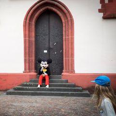 Mickey ist in der Stadt