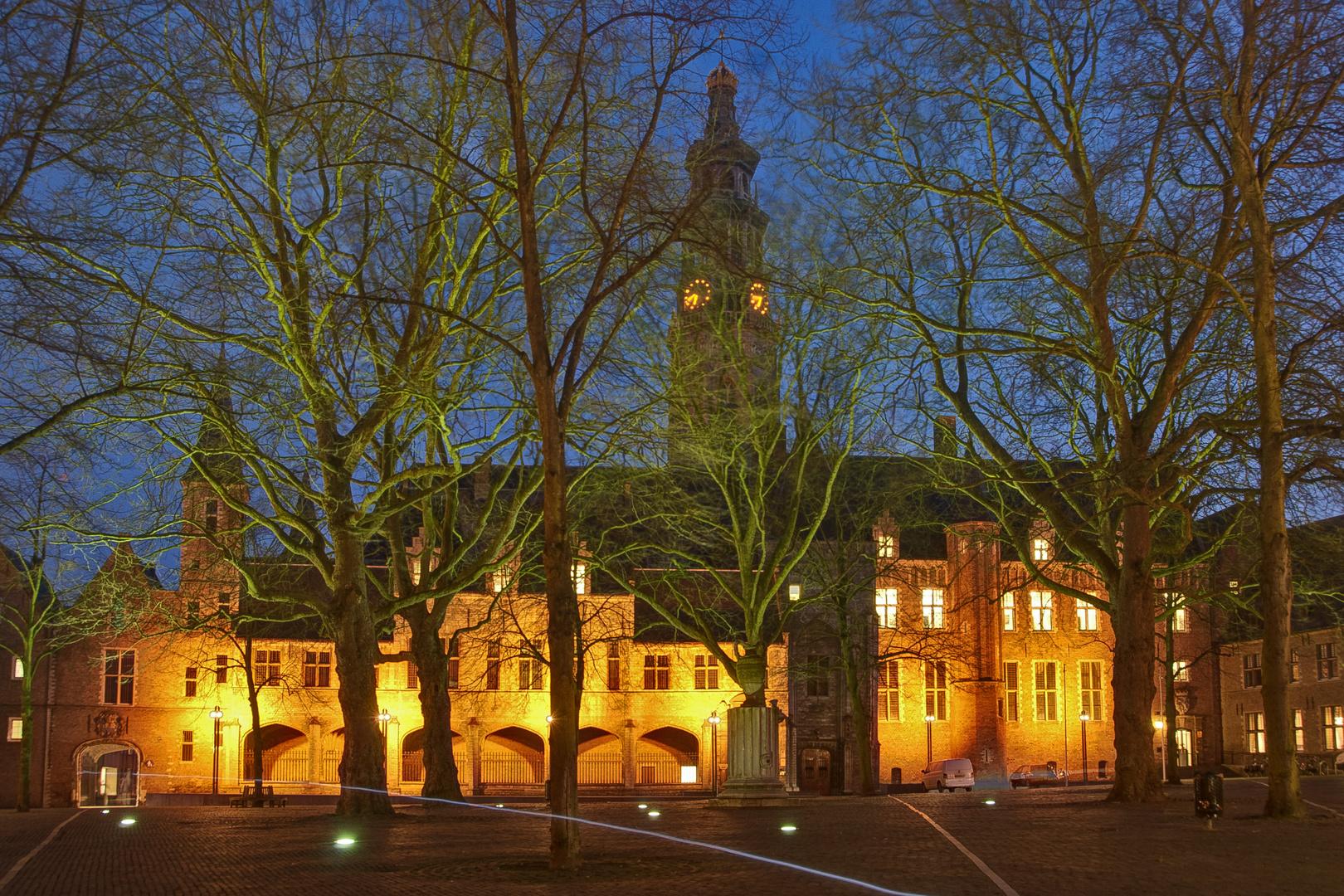 "Middelburg - Abdij (Abbey) with Tower ""Lange Jan"""