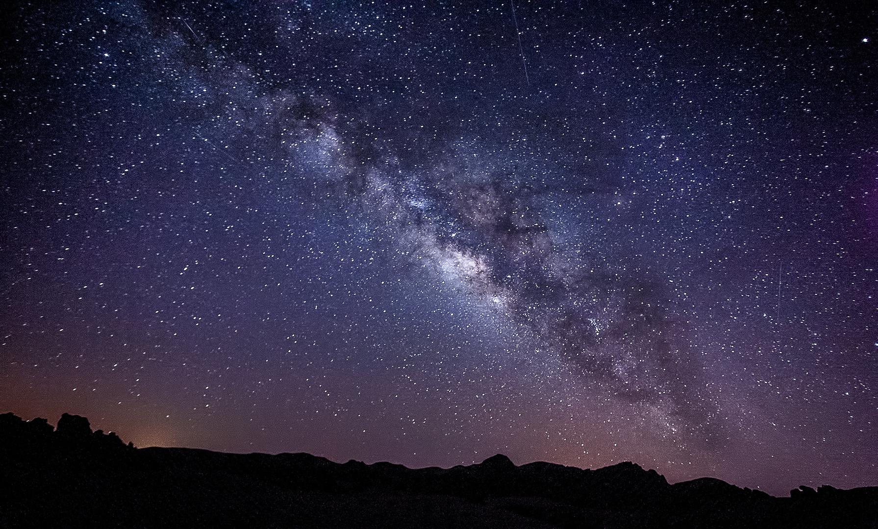 Milchstraße auf Teneriffa