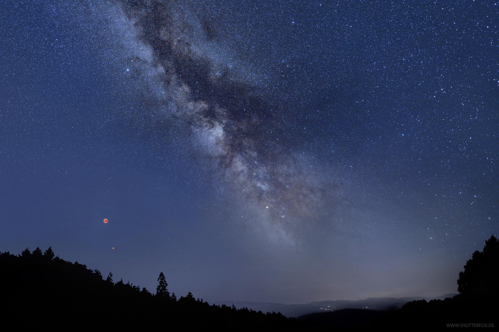 Milchstraße bei Mondfinsternis