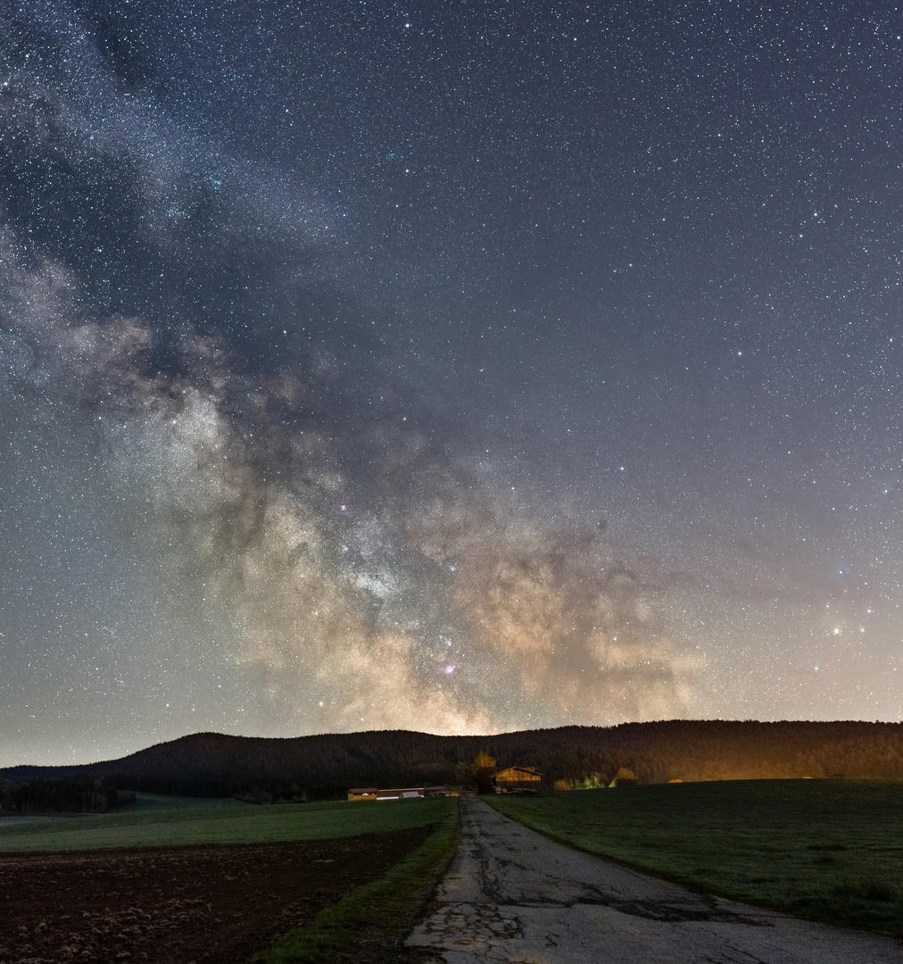 Milchstraße gleich ums Eck
