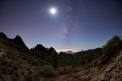 Milchstraße mit Mond