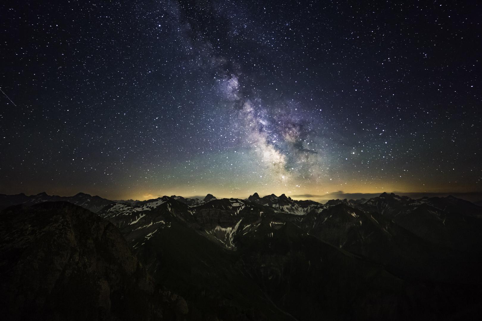 Milchstraße über den Allgäuer Alpen