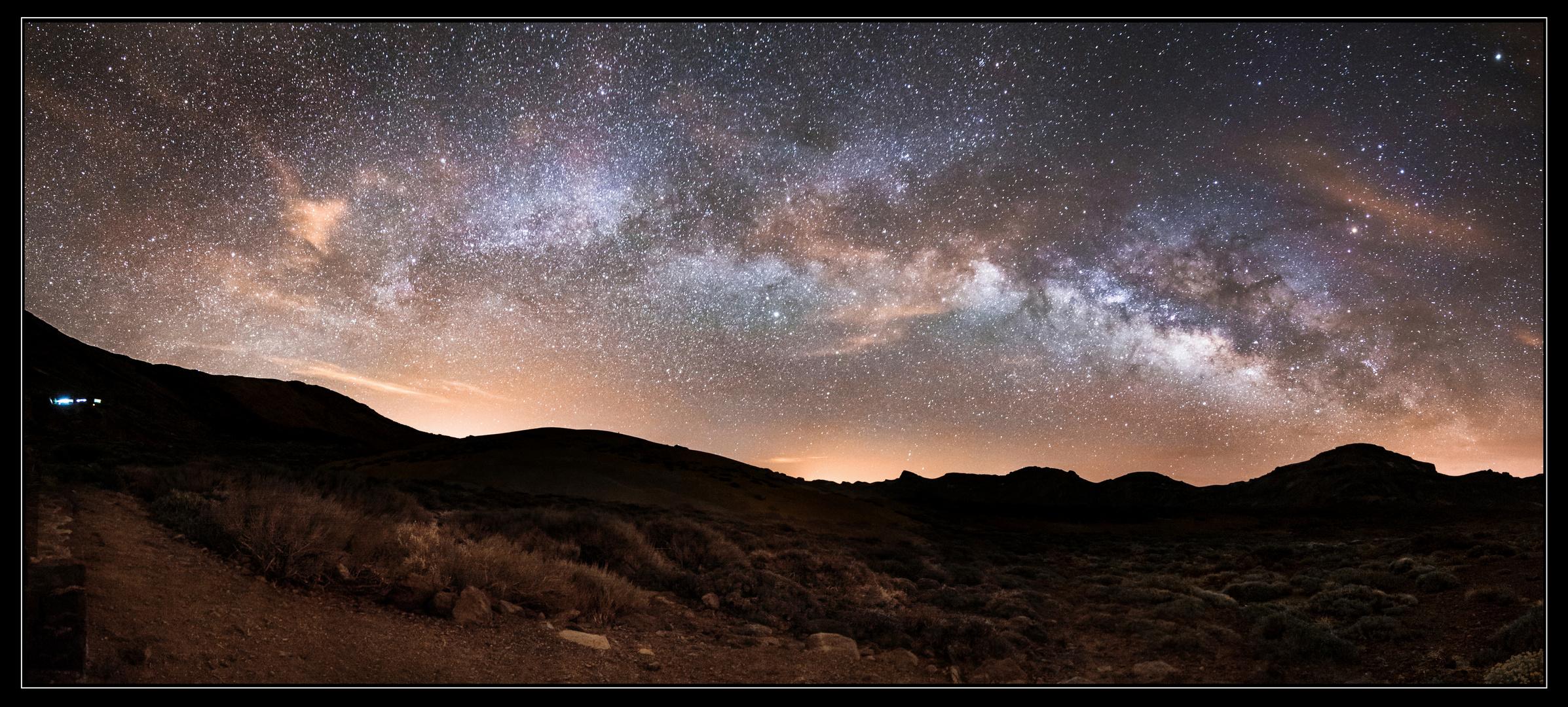 Milchstraße über den Canadas