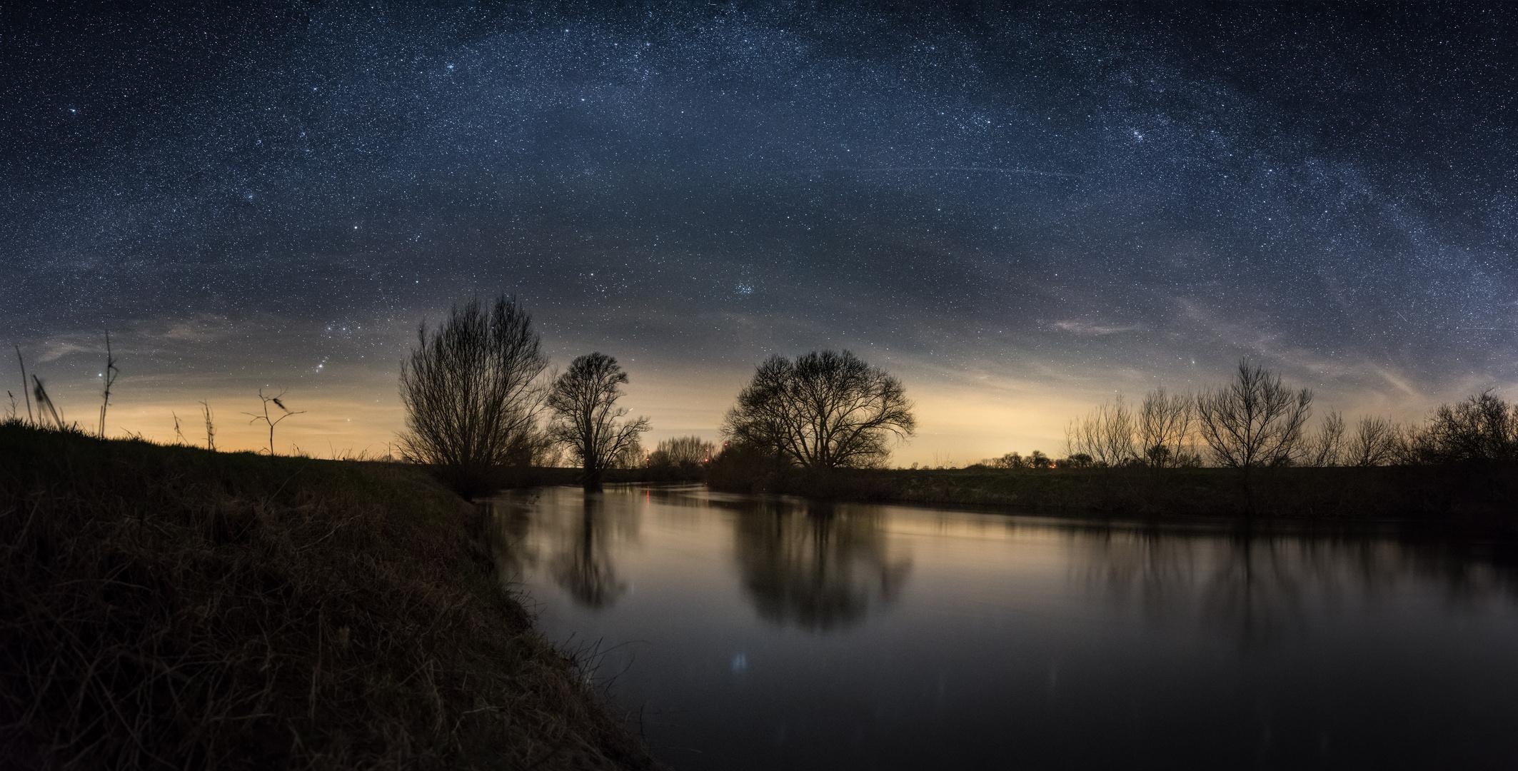 Milchstraße über der Leine