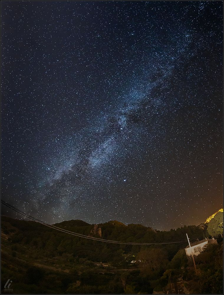 Milchstraße über Valldemossa