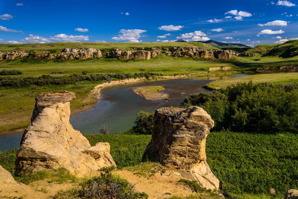 Milk River 2, Writing-on-Stone PP, Alberta, Kanada