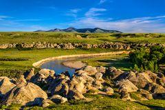 Milk River & Sweet Grass Hills, Writing-on-Stone PP, Alberta, CA