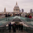 Millenium Bridge and St. Pauls Cathedral