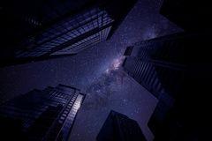 Millionen Lichter in der Stadt