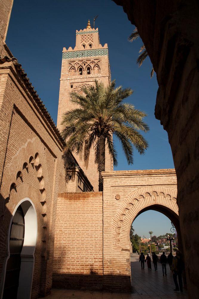 Minarett der Koutoubina Moschee