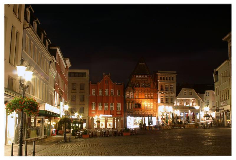 Mindener Marktplatz bei Nacht