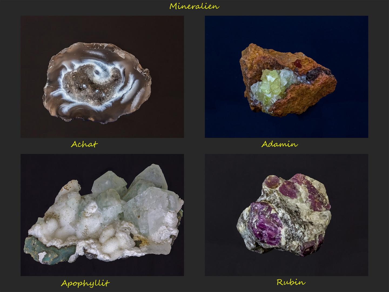 Mineralien in indirektem Tageslicht