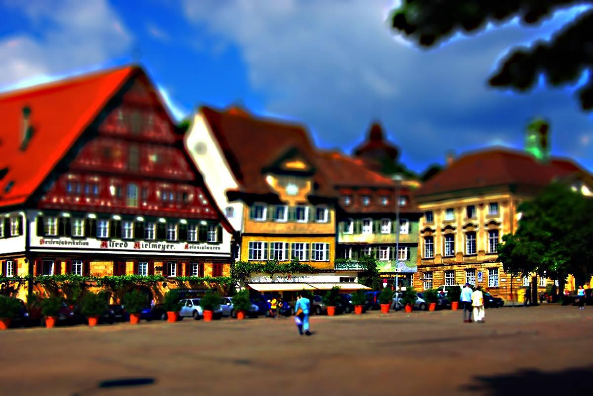 Miniatureffekt-Marktplatz