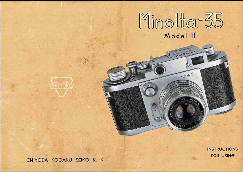 Minolta 35 II Instructions