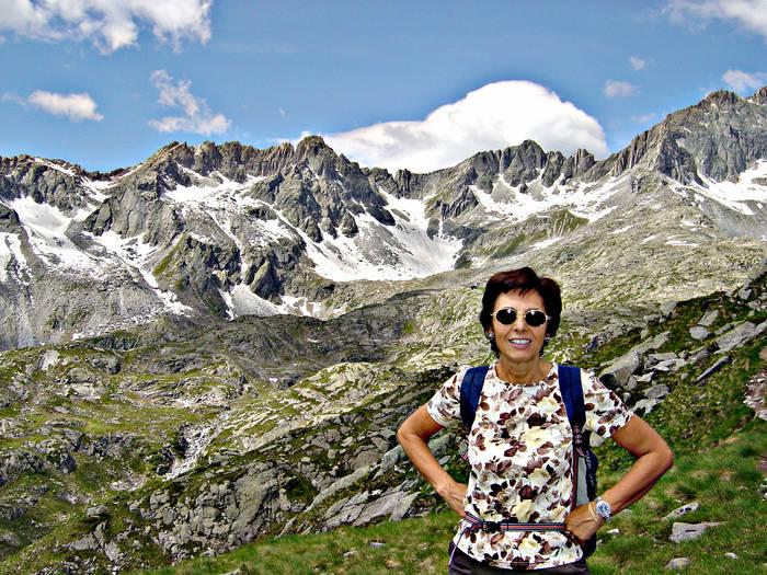 Miriam verso il rifugio Segantini al Cornisello (Tn)