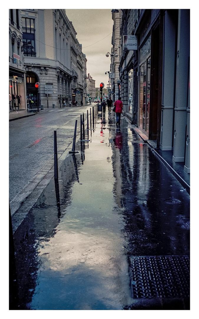mirror in the rain