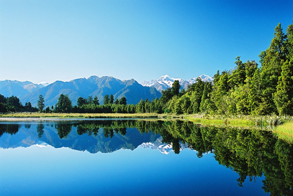Neuseeland Detail: Mirror Lake Auf Der Südinsel Von Neuseeland Foto & Bild
