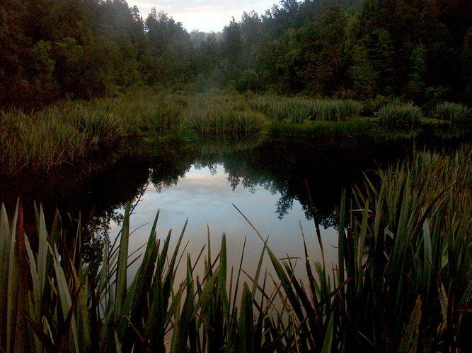 Mirror Lake nach abendlichem Regen