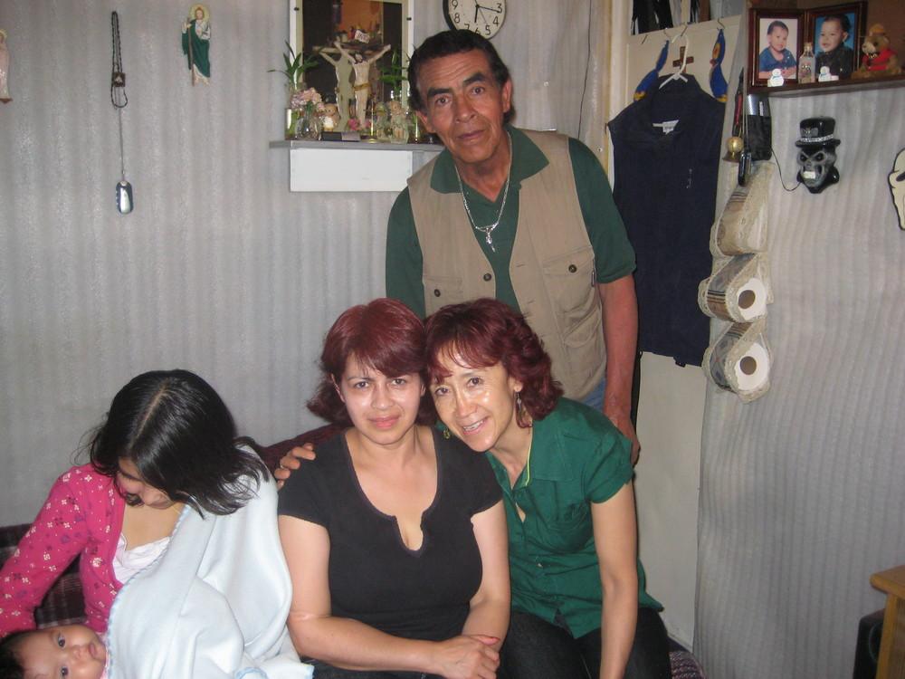 mis padres y mi esposa