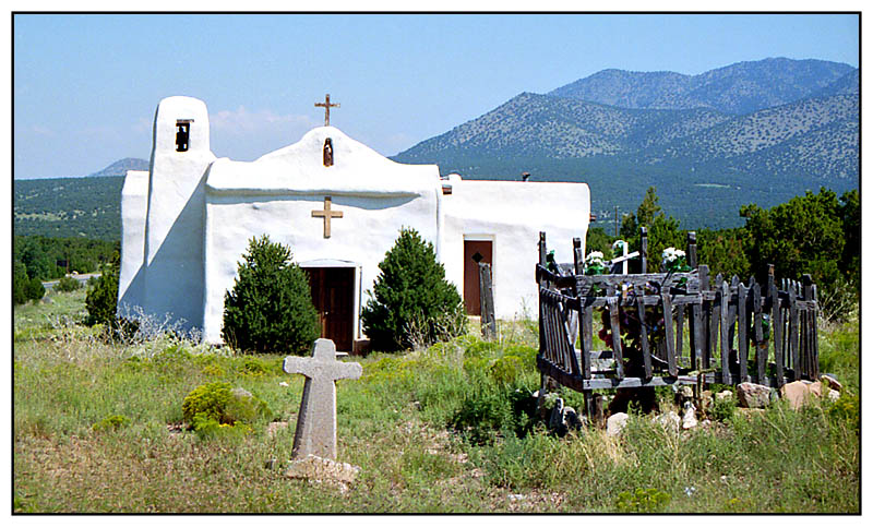 Missionskirche in Golden - New Mexico, USA