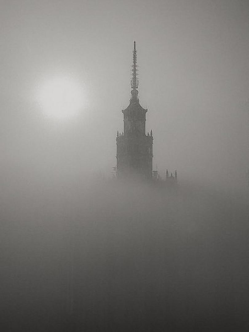 Mist sunrise in Warsaw...