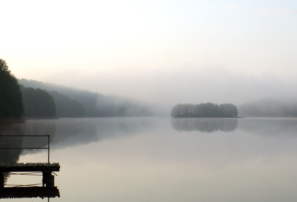 misty sunrise at gilwa Lake ...