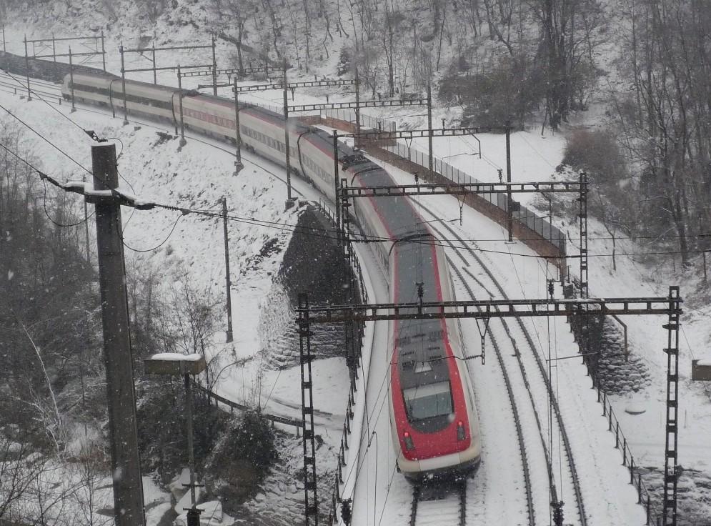 Mit 8° Neigung über den Gotthard
