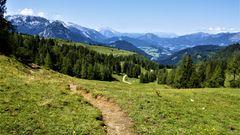 Mit Blick auf das Tennengebirge