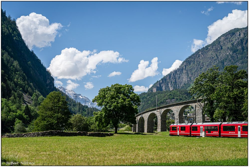 Mit dem Bernina Express unterwegs