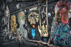 Mit dem Fahrrad zur Straßenkunst